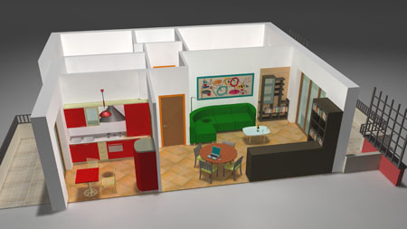 Progetti Cucina Soggiorno. Seconda Alternativa Di Progetto With ...